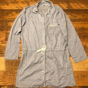 VICTORIA'S SECRET long button down shirt pajama